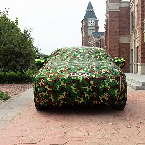 Volle Autoplanen wasserdicht atmungsaktiv mit Baumwollreißverschluss für BMW-Serie - Limousinenabdeckungen im Freien Winter Frostschutz verdicken Oxford-Tuch Abriebfeste SUV-Abdeckung, Vier Jahresze