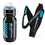Raceone - Kit Race Duo X5 Gel (2 PCS): Porta Bidon X5 Gel + Bidon de Ciclismo XR1 Bici Carrera de Ruta/Bicicleta de Montaña MTB/Gravel Bike. 100% Made IN Italy
