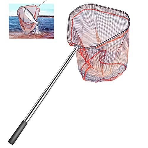 Merpin Red de pesca telescópica, red de pesca con red plegable, accesorios...