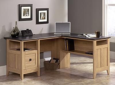 Sauder August Hill L-Shaped Desk, Dover Oak Finish