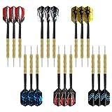 Accmor Steel Tip Darts, Metal Tip Darts, Professional Metal Darts for Dartboard, 18 pcs