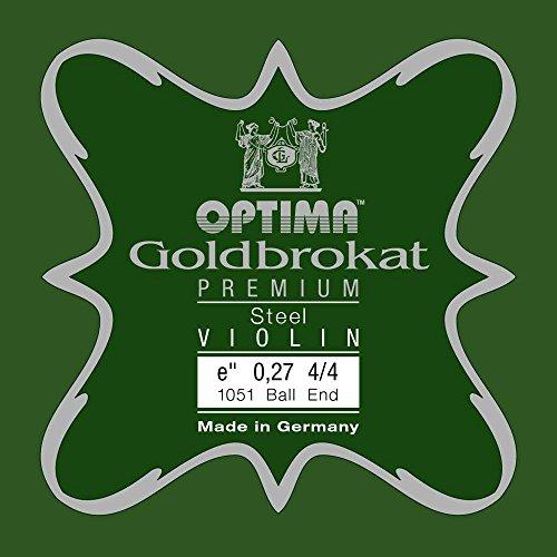 OPTIMA Goldbrokat Premium Violin E1 0.27 Ball End 4/4