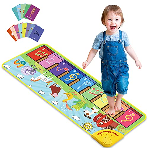 Joyjoz Baby Musical Mats with 25 Music Sounds, Musical Toys Child Floor Piano Keyboard Mat Carpet...