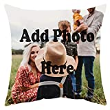 Seamaid Personalized Pillow Cover with Picture Cushion Photos Cover Custom Cushion Case Printed Lover Photo Personalized Gifts for Special One 18x18
