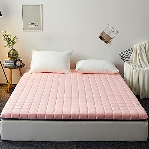 YPSM Plegable Colchon Tatami Japones para Sala De Estar Dormitorio Cama Couch Sofás Tienda,Colchón Colchón Tatami para Dormir Viaje-Rosa 100x200cm(39x79inch)