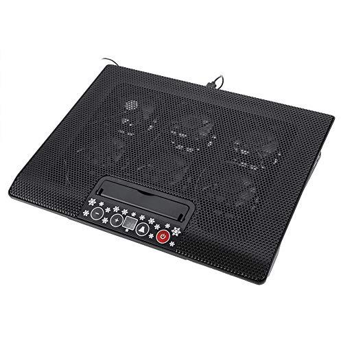 Sxhlseller Cooler Pad, Super Silenzioso Laptop Cooler Cooling Pad Base USB 6 Ventole Supporti Angolari Regolabili Stand 17 o sotto Notebook