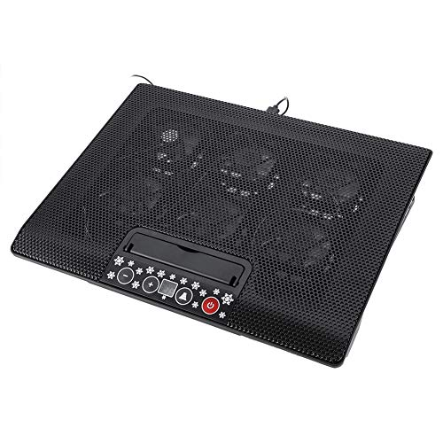 Sxhlseller Cooler Pad, Super Quiet Laptop Cooler Cooling Pad Base USB 6 Fans Adjustable Angle Mounts Stand 17' or Below Notebook