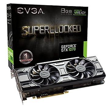 EVGA GeForce GTX 1070 SC GAMING ACX 3.0 Black Edition 8GB GDDR5 LED DX12 OSD Support  PXOC  08G-P4-5173-KR  Renewed