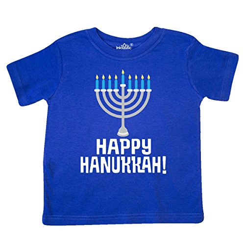 inktastic Happy Hanukkah Menorah Toddler T-Shirt 4T Royal Blue 27a9e