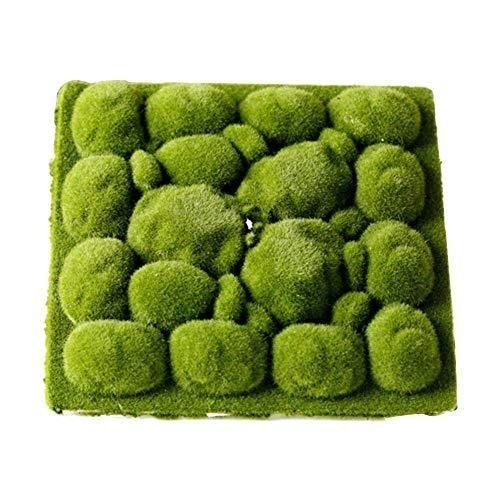 Musgo artificial Forma de piedra Alfombra de hierba de musgo Alfombras de césped artificial de interior verde para decoración Decoración de musgo para floristería y decoración, decoración del balcón