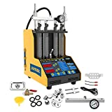 Autool CT150 Auto Fuel Injector Cleaner and Tester Machine Kits Ultrasonic Cleaning Injector Test Support for 110V Petrol Vehicles Motorcycle 4-Cylinder