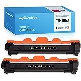 MyCartridge - Tóner compatible con TN-1050 TN1050 para Brother DCP-1510 DCP-1612W DCP-1610W HL-1110 HL-1112 HL-1210W HL-1212W MFC-1910W MFC-1810 (2 unidades), color negro