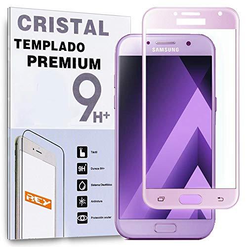 Protector de Pantalla Curvo para Samsung Galaxy A5 2017, Rosa, Cristal Vidrio...