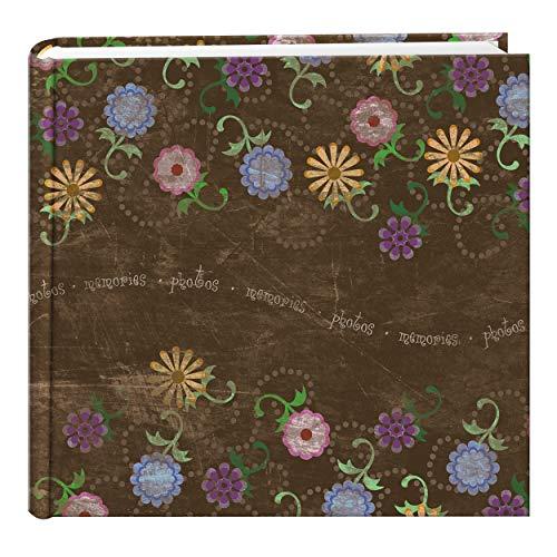 Álbum de fotos Pioneer Photo Albums com design floral envelhecido, 200 bolsos para fotos de 10 x 15 cm