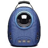 SWNN Life in The Doghouse Cápsula Espacial Azul Bolsa for Mascotas Perro Gato portátil Viaje al Aire Libre Transpirable Hombro Oxford Tela Mochila Transpirable Suelta Correa de Hombro Ajustable