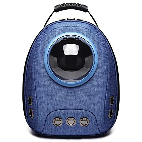 Yangmanini Cápsula Espacial Azul Bolsa for Mascotas Perro Gato portátil Viaje al Aire Libre Transpirable Hombro Oxford Tela Mochila Transpirable Suelta Correa de Hombro Ajustable