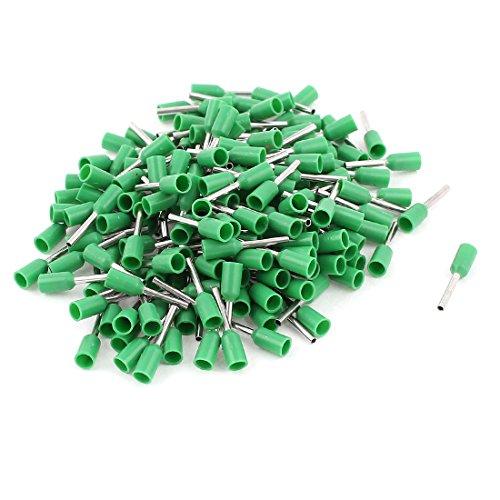 Sourcingmap® 200pcs Conector Punteras Huecas 0,5mm2 Cable crimpado terminales Aislantes Verde
