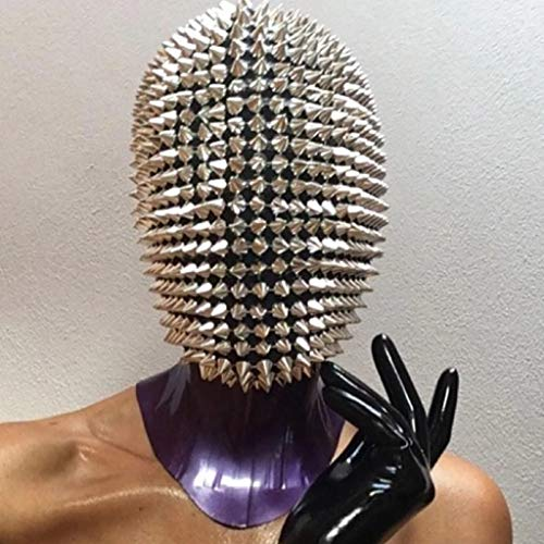 cnnIUHA Halloween Cosplay Mask for Adult Funny Studded Spikes Full Face Masquerade DIY Props Holiday Atmosphere Toy Novelty Costume Durable and Breathable
