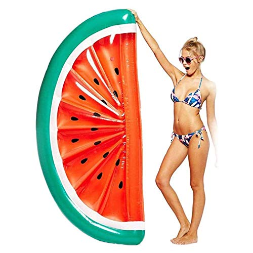 Flotador inflable gigante de sandía, para niños y adultos, ayuda de natación, rojo, 187