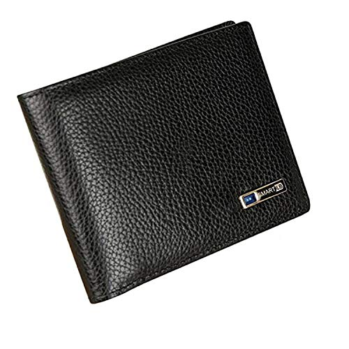 Smart LB Anti-Lost Wallet Bifold Cowhide Leather Purse with Alarm, Bluetooth, Position Record (via Phone GPS)