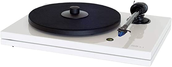 Music Hall MMF-5.3WH Turntable with Ortofon 2M Cartridge, Carbon-Fiber Arm (Gloss White)