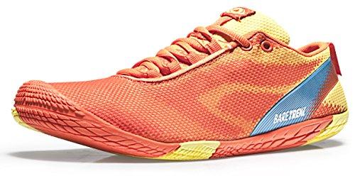 TSLA TF-BK30-RY_Men 7.5 D(M) Men's Trail Running Minimalist Barefoot Shoe BK30