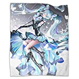 BOLDROLE Hatsune Miku Blanket Ultra-Soft Micro Fleece Blanket for Couch Bed Warm 50'X40' Plush Throw Blanket Suitable for All Season