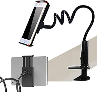Cell Phone Stand Clip On 4-10.6 Inch Tablet Phone Holder Flexible 29Inch Long Arm Bed Desktop Clamp Grip for iPad, for Sur...