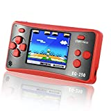 Easegmer Handheld Game Console for Kids Adults, EG-250 Retro Portable Video Games Console, Built-in 200 Games 12 Bit 2.5 Inch LCD Arcade Gaming Family Games Player, Best Gift for Boys Girls-Red