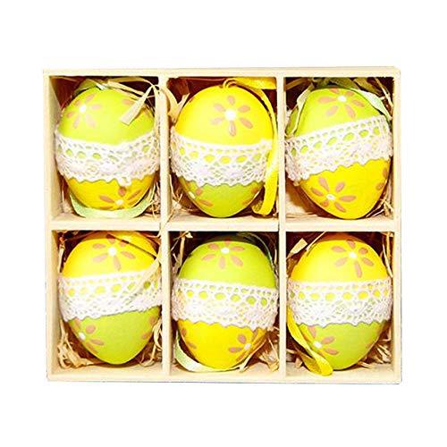 SXTYRL Uova di Pasqua, Kit Uova di Pasqua da Decorare riempire Grandi Sorpresa Gigante Frozen Mini Cars Fondente polistirolo Grande policarbonato Decora