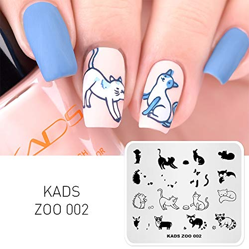 KADS New Nail Stamping Piatto Fiore Fashion Nature Nail Art Timbro Template Fai da te Image Template Manicure Stamping Plate Stencil Tools (ZO002)