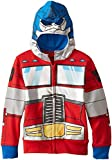 Transformers Little Boys' Optimus Prime Character Hoodie, Reds, 5/6