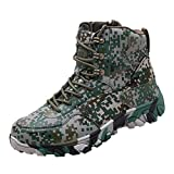 Gaowen Mens Camouflage Sports Shoes Desert Hiking Outdoor Durable High Top Boots Mountaineer Shoes (Camouflage, 9.5-10)