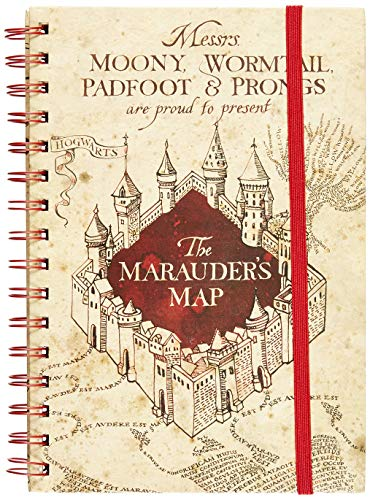AMBROSIANA Quaderno a righe A5 Harry Potter The Marauders Map