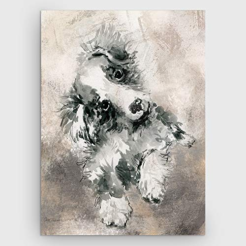 WEXFORD HOME 'Sketchy Study Collie Gallery Wrapped Canvas Wall Art, 36x48