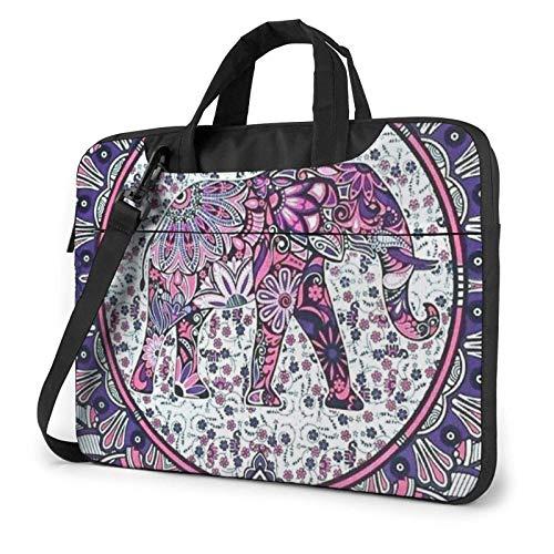 Hippie Elephant Laptop Bag Messenger Bag Briefcase Satchel Shoulder Crossbody Sling Working Bag
