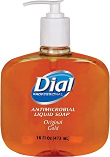 Dial Antimicrobial Liquid Hand Soap, Unscented, 16 Oz