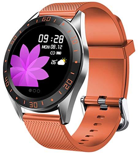 Gymqian Fitness Tracker Ritmo Cardíaco Presión Arterial de Oxígeno Actividad Rastreador Podómetro a Prueba de Agua Paso Calorie Sleep Monitor Touch Screen Smart Watch Compatible con