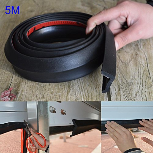 ZREAL - 5 m - Garagentor Bodendichtung, Gummidichtung, Ersatzdichtung