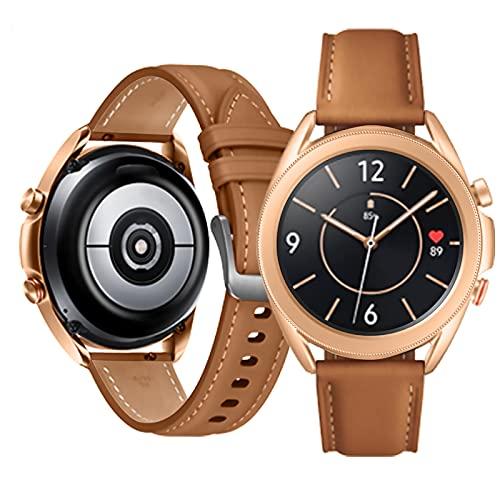 YouthRM Watch3 Smart Watch für Android Handys wasserdichte Smart Watches für Damen Herren Sport Digitaluhr Fitness Tracker Herzfrequenz Blutsauerstoff Schlafmonitor Touchscreen,Brown