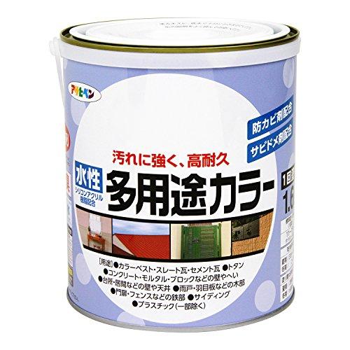 アサヒペン 水性多用途カラー 1.6L ツヤ消し黒