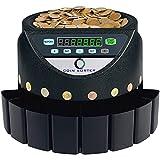 VEVOR Contamonete Professionale Euro 220V 300 Monete al Minuto Conta Monete Euro Capacità di Moneta Selezionatrice di Monete 700 Macchina Contamonete Euro con 8 Scatole di Raccolta