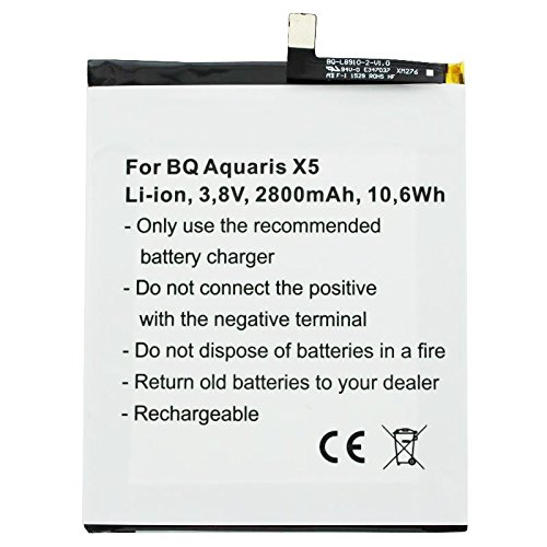 AccuCell - Batería para BQ Aquaris X5 2900