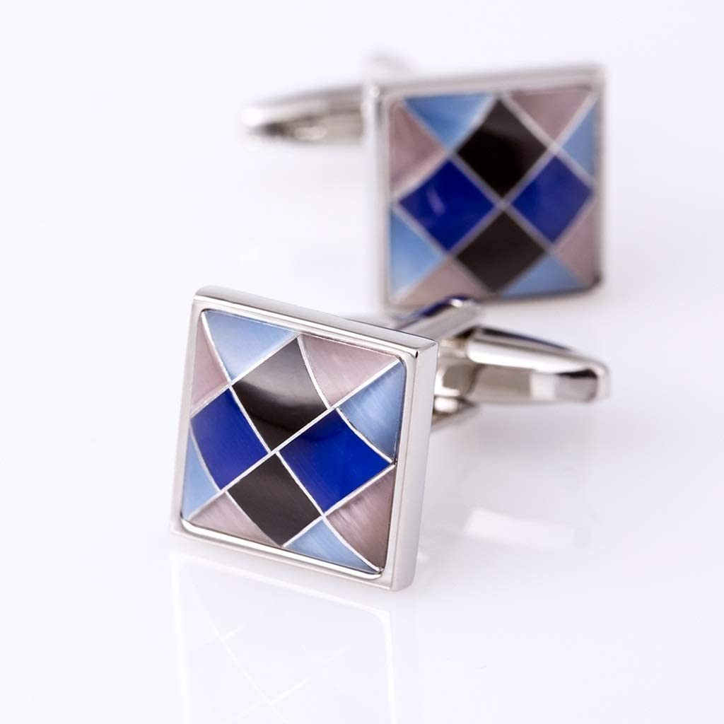 ZZABC Jewelry Shirt Fashion Cufflinks for Mens Brand Colorful Cuff Link Button Wedding Groom Guests