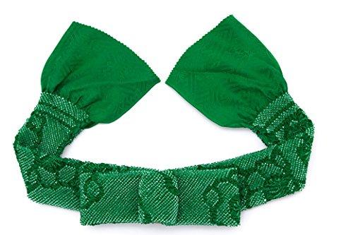 (ソウビエン) 帯揚げ 緑 グリーン 梅 花 絞り 正絹 振袖向け 成人式向け 帯あげ おびあげ 和装小物