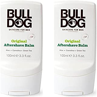 Bulldog Original After Shave Balm (Pack of 2) With Aloe Vera, Camelina Oil and Green Tea, For a Non-Sticky, Soothing, Moisturizing After Shave for Men, 3.3 fl. oz.