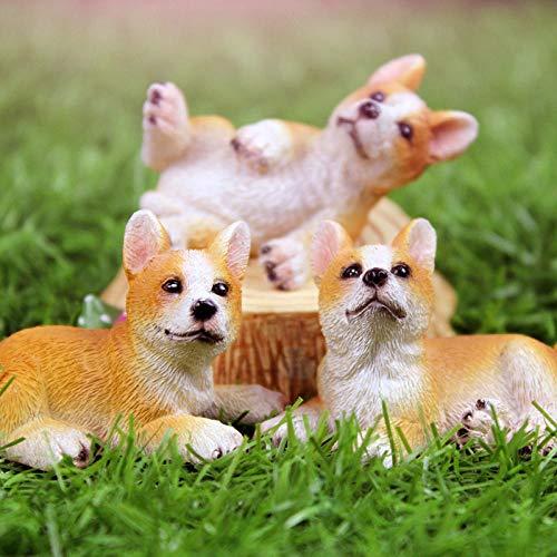 GQTD Ornaments Sculptures Pet puppy decoration garden decoration accessories-A