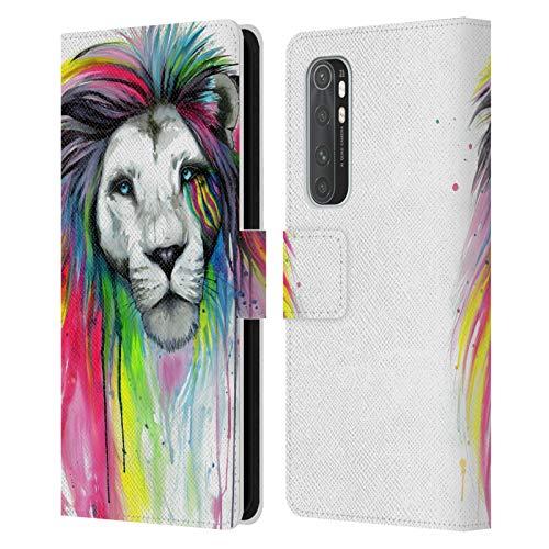 Head Case Designs Licenciado Oficialmente Pixie Cold Rainbow Melena Gatos Carcasa de Cuero Tipo Libro Compatible con Xiaomi Mi Note 10 Lite