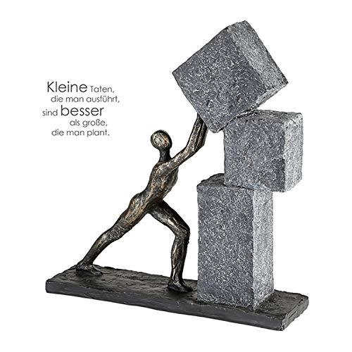 Casablanca - Skulptur - Dekofigur - Stacking - Poly - Farbe: Bronze - 30,5 x 28 cm
