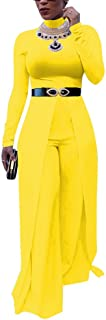 Choichic Women's Wide Leg Jumpsuits - Elegant Long Sleeve Romper High Waisted Palazzo Flare Pants Suit